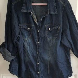 New look Jean snap closer shirt size 2X